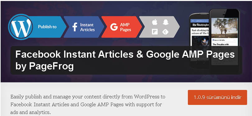 Wordpress Facebook Instant Articles & Google AMP Pages Eklentisi